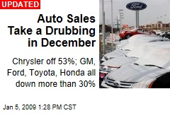 Auto Sales Take a Drubbing in December