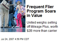 Frequent Flier Program Soars in Value