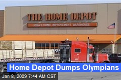 Home Depot Dumps Olympians