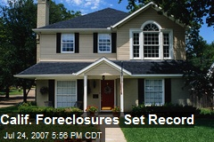 Calif. Foreclosures Set Record