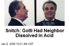Snitch: Gotti Had Neighbor Dissolved in Acid