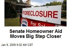 Senate Homeowner Aid Moves Big Step Closer