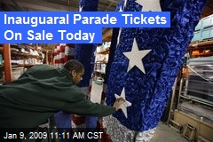 Inauguaral Parade Tickets On Sale Today