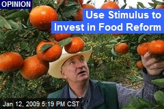 Use Stimulus to Invest in Food Reform