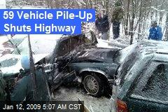 59 Vehicle Pile-Up Shuts Highway
