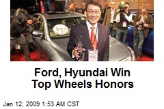 Ford, Hyundai Win Top Wheels Honors