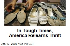 In Tough Times, America Relearns Thrift
