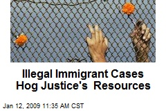 Illegal Immigrant Cases Hog Justice's Resources