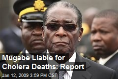 Mugabe Liable for Cholera Deaths: Report