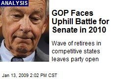 GOP Faces Uphill Battle for Senate in 2010