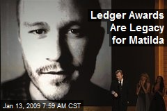Ledger Awards Are Legacy for Matilda