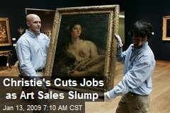Christie's Cuts Jobs as Art Sales Slump