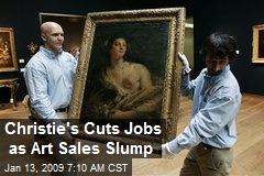 Christie's Cuts Jobs as Art Sales Slump