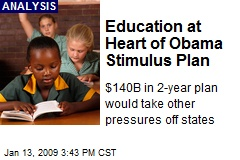 Education at Heart of Obama Stimulus Plan