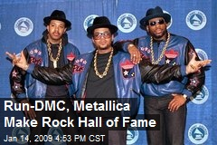 Run-DMC, Metallica Make Rock Hall of Fame