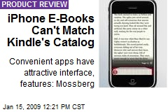 iPhone E-Books Can't Match Kindle's Catalog
