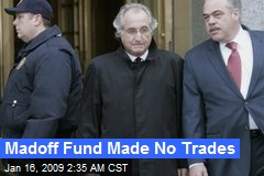 Madoff Fund Made No Trades