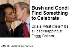 Bush and Condi Find Something to Celebrate