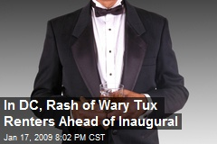 In DC, Rash of Wary Tux Renters Ahead of Inaugural