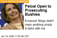 Pelosi Open to Prosecuting Bushies