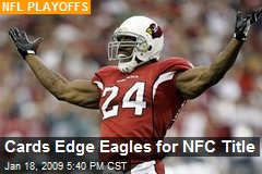 Cards Edge Eagles for NFC Title