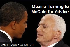 Obama Turning to McCain for Advice