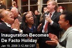 Inauguration Becomes De Facto Holiday