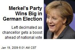 Merkel's Party Wins Big in German Election