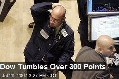 Dow Tumbles Over 300 Points