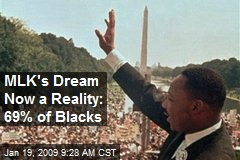 MLK's Dream Now a Reality: 69% of Blacks
