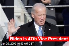 Biden Is 47th Vice President