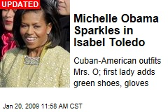 Michelle Obama Sparkles in Isabel Toledo