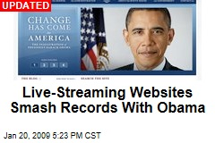 Live-Streaming Websites Smash Records With Obama