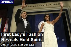 First Lady's Fashion Reveals Bold Spirit
