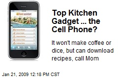 Top Kitchen Gadget ... the Cell Phone?