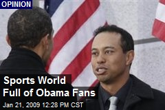 Sports World Full of Obama Fans