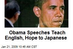 Obama Speeches Teach English, Hope to Japanese