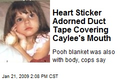 Heart Sticker Adorned Duct Tape Covering Caylee's Mouth