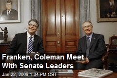 Franken, Coleman Meet With Senate Leaders