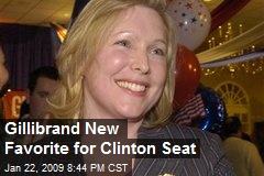 Gillibrand New Favorite for Clinton Seat