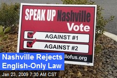 Nashville Rejects English-Only Law