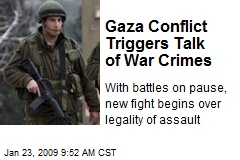Gaza Conflict Triggers Talk of War Crimes