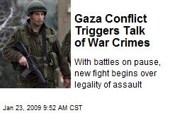 Gaza Conflict Triggers Talk of War Crimes