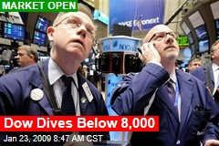 Dow Dives Below 8,000