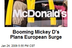 Booming Mickey D's Plans European Surge