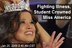 Fighting Illness, Student Crowned Miss America