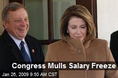 Congress Mulls Salary Freeze