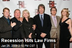 Recession Hits Law Firms
