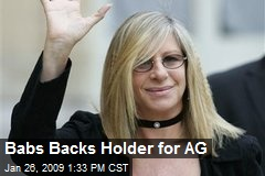 Babs Backs Holder for AG