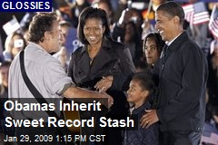 Obamas Inherit Sweet Record Stash